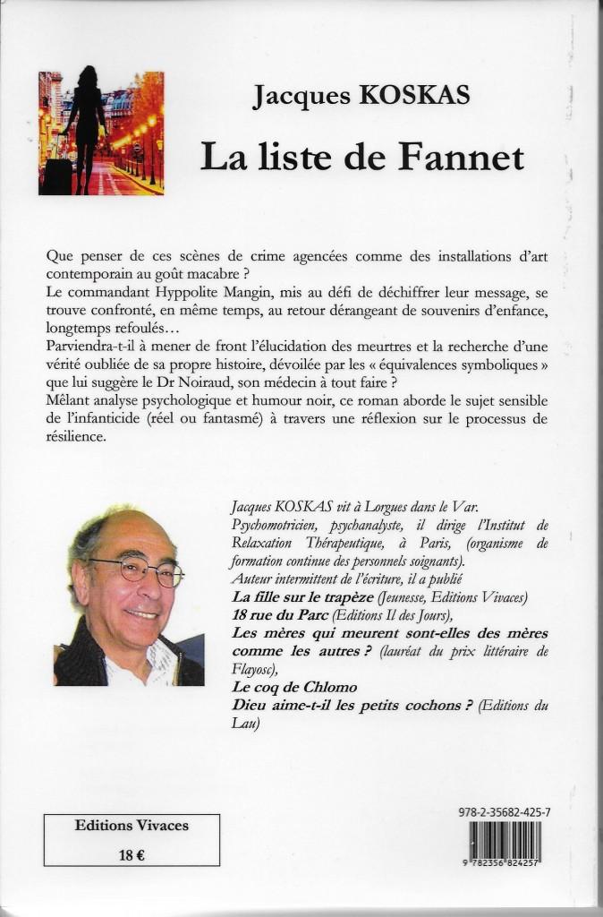 LA LISTE DE FANNET 4E COUVERTURE