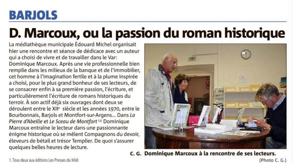 Article Dominique Marcoux