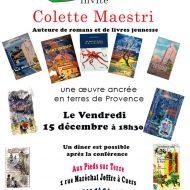 Conférence de Colette Maestri à Cuers