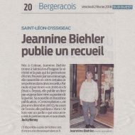 Jeannine Biehler publie un recueil