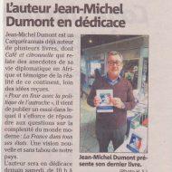 L'auteur Jean-Michel Dumont en dédicace