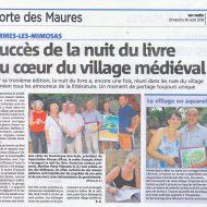Succès de la nuit du livre au coeur du village médiéval de Bormes les Mimosas