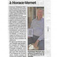 Du 23 avril au 5 mai, Dominique Marcoux est en dédicace à Horace-Vernet
