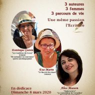 Dimanche 8 mars 2020, Dominique Guenin en dédicaces à la librairie Les Ménines, Marseille